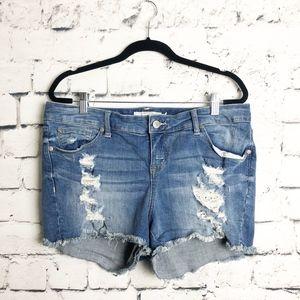 Torrid Cut-Off Distressed Jean Shorts